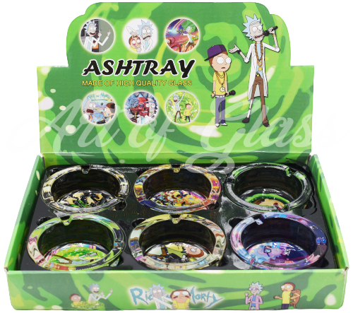 Picture of ROUND GLASS R/M ASHTRAY - 6ct DISPLAY