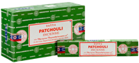 Picture of SATYA PATCHOULI INCENSE STICKS 12pk 15g