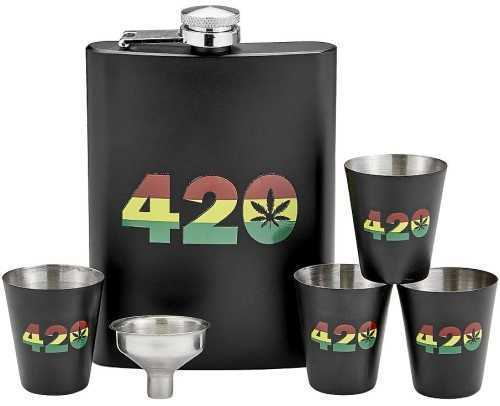 Picture of ROAST & TOAST FLASK & SHOT GLASS SET