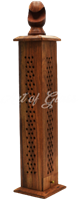 Picture of WOODEN NET TOWER INCENSE BURNER