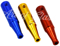 """Picture of 3"""" SOLID COLOR """"BOTTLE"""" SHAPE METAL PIPE"""
