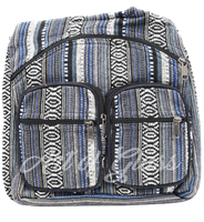 Picture of MIXED PATTERN BACKPACK w/ TWO ZIPPER POUCHES