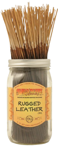 """Picture of WILD BERRY INCENSE 11"""" STICKS - RUGGED LEATHER"""