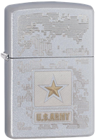 Picture of SATIN CHROME U.S. ARMY ZIPPO LIGHTER