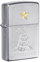 """Picture of """"DON'T TREAD ON ME """" AND GADSDEN FLAG ZIPPO LIGHTER"""