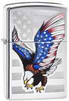 Picture of EAGLE w/ STARS AND STRIPES WINGS DESIGN ZIPPO LIGHTER