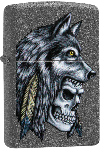 Picture of WOLF SKULL FEATURE DESIGN ZIPPO LIGHTER