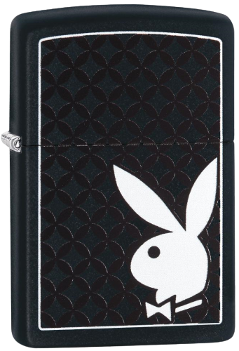 Picture of WHITE PLAYBOY BUNNY DESIGN ZIPPO LIGHTER
