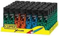 Picture of COLORED SMOKE CLIPPER JET FLAME LIGHTER 48ct DISPLAY