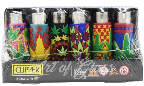 Picture of HAND SEWN TRIPPY LEAF CLIPPER LIGHTERS 48 CT
