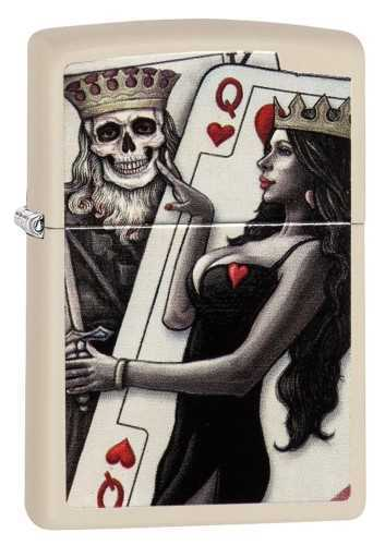 Picture of SKULL KING & QUEEN OF HEARTS ZIPPO LIGHTER