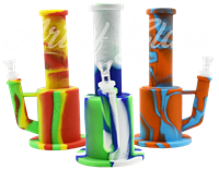 """Picture of 10"""" SILICONE STRAIGHT NECK FAT WATER PIPE - COLOR"""