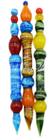 """Picture of 5"""" GLASS CANDY SWIRL DABBER"""