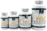 Picture of WHOLE HERBS KRATOM - YELLOW VEIN INDO CAPSULES