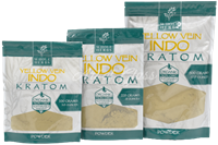 Picture of WHOLE HERBS KRATOM - YELLOW VEIN INDO POWDER