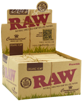 Picture of RAW ORGANIC HEMP CONNOISSEUR KING SIZE w/ TIPS (24ct)