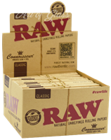 Picture of RAW CLASSIC CONNOISSEUR KING SIZE w/ TIPS (24ct)