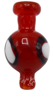 Picture of RED CARB CAP w/ 3 EYES