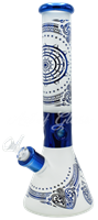 """Picture of 14"""" SANDBLASTED BEAKER w/ NAUTICAL ACCENTS"""
