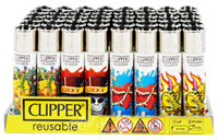Picture of TATTOO DESIGN CLIPPER LIGHTERS (48ct DISPLAY)