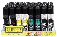Picture of SKULL DESIGN CLIPPER LIGHTERS (48ct DISPLAY)