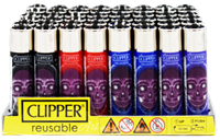 Picture of X-RAY SKULL DESIGN CLIPPER LIGHTERS (48ct DISPLAY)