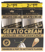 Picture of KING PALM PRE-PRICED ROLLIE 2pk - GELATO CREAM - 20ct