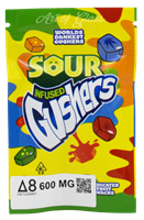 Picture of 600mg DELTA 8 SOUR INFUSED GUSHERS