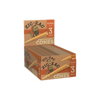 Picture of ZIG-ZAG KING SIZE UNBLEACHED CONES 3pk 24ct
