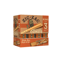 Picture of ZIG-ZAG KING SIZE UNBLEACHED CONES 3pk 36ct