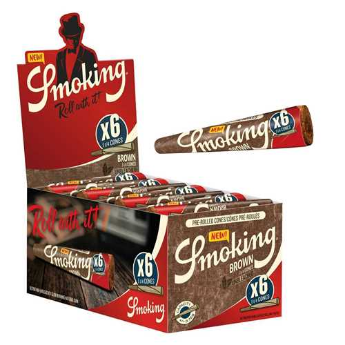 """Picture of SMOKING BROWN CONES -1 1/4"""" - 6pk. 50ct."""