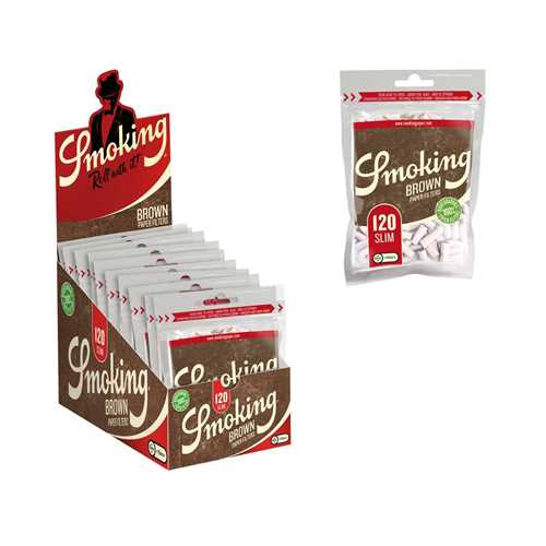 Picture of SMOKING BROWN BIODEGRADABLE SLIM FILTERS 120pk 10ct