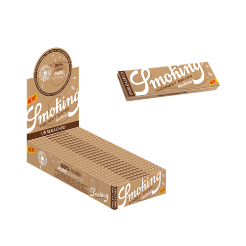 """Picture of SMOKING THINNEST BROWN 1 1/4"""" ROLLING PAPER"""