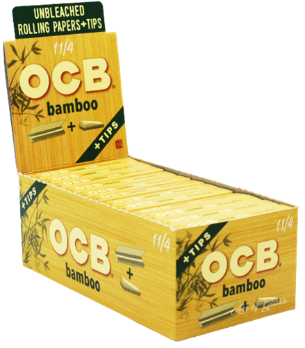 """Picture of OCB BAMBOO PAPERS w/ TIPS - 1 1/4"""""""