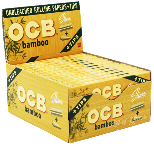 Picture of OCB BAMBOO PAPERS w/ TIPS - SLIM