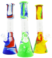 """Picture of 11"""" SILICONE HONEYCOMB BEAKER w/ GLASS DOME PERC"""